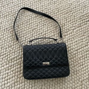 JCrew Quilted black Lady bag